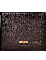 cheap -Men Bags Cowhide Wallet Buttons Pattern / Print for Casual Office & Career All Season Coffee
