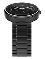abordables -correa de acero inoxidable banda reloj de lujo de alto grado con barra 2 de muelle para Motorola MOTO 360 1 ª generación