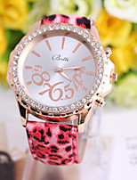 Women's Watch Geneva Fashion Leopard Leather Watch Cool Watches Unique Watches