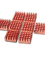 8 peças de cobre vga ram refrigeração dissipadores de calor mais frio + cosmos braçadeira de cabo