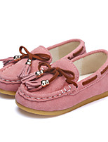Girl's Flats Spring Summer Fall Comfort Tulle Party & Evening Dress Casual Flat Heel Beading Pearl Purple