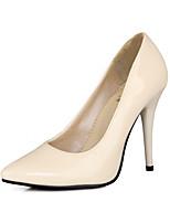 abordables -Femme Chaussures Similicuir Printemps Eté Confort Chaussures à Talons Talon Aiguille Bout pointu pour Mariage Habillé Jaune Rouge Vert