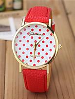 Недорогие -Жен. Модные часы Кварцевый Стеганная ПУ кожа Черный / Белый / Синий Повседневные часы Аналоговый Синий Розовый 1 #