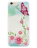sommerfugl flagrende diamant blomst telefon shell malede relieffer gælder iphone6 / 6s