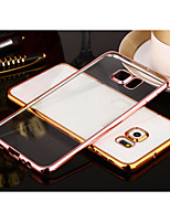 cheap -For Samsung Galaxy S8 Plus Plating Transparent Case Back Cover Case Solid Color TPU Samsung S7 edge S7 S8