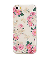 economico -Custodia Per iPhone 5 Apple Custodia iPhone 5 Fantasia/disegno Per retro Fiore decorativo Morbido TPU per iPhone SE/5s iPhone 5