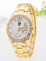 Недорогие -Жен. Повседневные часы Модные часы Имитационная Четырехугольник Часы Кварцевый Золотистый Имитация Алмазный Аналоговый Бабочка - Серебряный Золотой