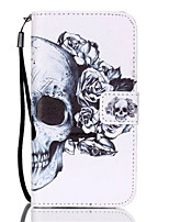 cheap -For Samsung Galaxy S7 Edge Wallet / Card Holder / with Stand / Flip Case Full Body Case Skull PU Leather Samsung S7 edge / S7