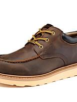 abordables -Hombre Zapatos Cuero de Napa Primavera Otoño Confort Oxfords para Casual Café