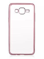 Pour Samsung Galaxy Coque Plaqué Transparente Coque Coque Arrière Coque Couleur Pleine PUT pour Samsung J7 J5 Grand Prime