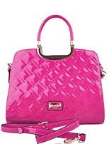 cheap -Women Bags PU Tote Pattern / Print Zipper for Casual Office & Career All Season Orange Fuchsia