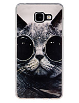 cheap -For Samsung Galaxy Case Pattern Case Back Cover Case Cat TPU Samsung A5(2016) / A3(2016)