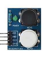 capteur de module de bouton tactile touche 2-indépendante pour arduino + framboise pi - bleu