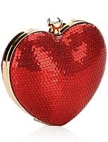 preiswerte -Damen Taschen Polyester Metall Abendtasche Pailletten für Hochzeit Veranstaltung / Fest Alle Jahreszeiten Rote
