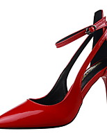 cheap -Women's Shoes PU Spring Summer Basic Pump Ankle Strap Heels Stiletto Heel Pointed Toe Closed Toe for Party & Evening Office & Career