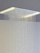 cheap -Stainless Steel 304 110V~220V Alternating Current Bathroom Rainfall Shower Head With Energy Saving LED Lamps