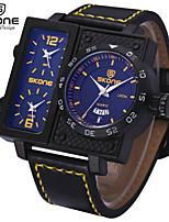 Hommes Montre Militaire Montre Bracelet Quartz Calendrier Chronographe Etanche Polyuréthane Bande Noir Blanc Orange Jaune Rouge Bleu