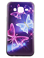 cheap -For Samsung Galaxy Case Pattern Case Back Cover Case Butterfly TPU Samsung J5 / J1 / Grand Prime / Core Prime
