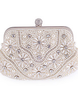 cheap -Women Bags Polyester Evening Bag Pearl Detailing for Wedding Event/Party All Season White