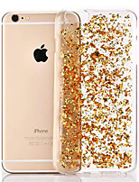 baratos -Capinha Para Apple iPhone 8 iPhone 8 Plus iPhone 6 iPhone 6 Plus Transparente Capa traseira Glitter Brilhante Macia TPU para iPhone 8