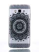 cheap -For Samsung Galaxy Case Transparent Case Back Cover Case Mandala TPU Samsung Grand Prime / Core Prime