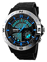 cheap -Men's Quartz Wrist Watch Sport Watch Alarm Calendar / date / day Chronograph Water Resistant / Water Proof LED Dual Time Zones PU Band