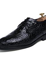 Недорогие -Муж. обувь Лакированная кожа Весна Осень Формальная обувь Туфли на шнуровке для Повседневные Для вечеринки / ужина Черный