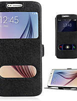 cheap -For Samsung Galaxy A7(2016) A510 CASE PU Leather flip Cover With Double Window Stand A3 A7 A5 2016