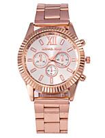Недорогие -Муж. Жен. Универсальные Модные часы Кварцевый Серебристый металл / Розовое золото Повседневные часы Аналоговый Серебряный Розовое золото