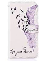 Feather Pattern PU Leather Material Phone Cover for Samsung Galaxy J5/J510/G360/G530/I9060