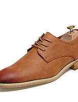 Men's Shoes Synthetic Fall Winter Formal Shoes Oxfords Lace-up For Casual Party & Evening Red Brown Black