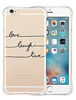 cheap -Case For iPhone 6 Plus iPhone 6 Shockproof Transparent Pattern Back Cover Word / Phrase Soft Silicone for iPhone 6s Plus iPhone 6 Plus
