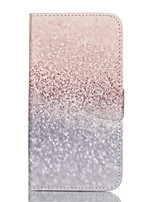 cheap -For Samsung Galaxy S7 Edge Wallet / Card Holder / with Stand / Flip Case Full Body Case Glitter Shine PU Leather SamsungS7 plus / S7 edge