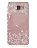 cheap -For Samsung Galaxy Case Transparent / Pattern Case Back Cover Case Flower TPU Samsung A5(2016) / A3(2016)