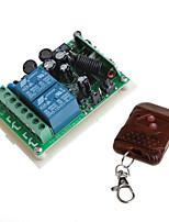 12v 2 canaux sans fil module à distance de relais avec commande à distance (entrée ac ac 85-260V)