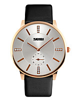 cheap -Skmei®Men's Dress Leather Strap Rhinestone Wrist Watch 30m Waterproof Assorted Colors Cool Watch Unique Watch