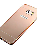Plating Mirror Back with Metal Frame Phone Case for Samsung Galaxy S7 edge/S7/S6 Edge/S6/S5/S4