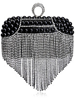 Women Bags All Seasons Polyester Evening Bag Rhinestone Pearl Detailing for Wedding Event/Party Formal Gold Black Silver