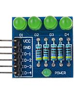 4p llevó PWM oscurecimiento diodo luz verde módulo - azul adecuada para la investigación científica Arduino