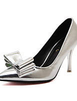 Women's Shoes PU Summer Slingback Heels Stiletto Heel Bowknot For Casual Silver Gold