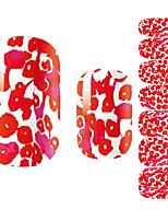 baratos -1 pcs Flor / Desenho / Fashion Etiquetas de unhas 3D Adorável Diário