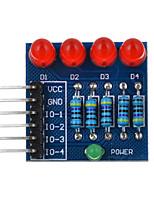 4p llevó PWM oscurecimiento diodo de luz roja del módulo - azul + rojo + multicolor adecuado para la investigación científica Arduino