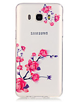 Flower PatternTransparent Soft TPU Back Case for Galaxy J5/Galaxy J5(2016)