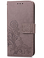 cheap -For Samsung Galaxy Case Card Holder / Wallet / with Stand / Flip / Embossed Case Full Body Case Flower PU Leather SamsungS5 Mini / S4