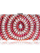 Women Bags All Seasons Polyester Evening Bag Pearl Detailing for Wedding Event/Party Formal Blue Gold Black Silver Red