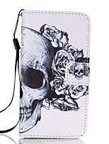cheap -For Samsung A3(2017) A5(2017) Card Holder Wallet with Stand Case Full Body Case Skull Hard PU Leather