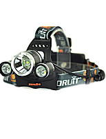 cheap -Boruit® RJ-3000 Headlamps LED 3000/5000 lm 4 Mode LED with Charger Rechargeable Strike Bezel Camping/Hiking/Caving Traveling