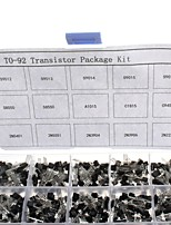 750pcs 15KindsX50pcs TO-92 Transistor Kit + retail box (A1015, C945, C1815, S8050, S9012,2N2222 ...)
