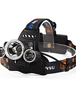cheap -Headlamps LED 4800 lm 4 Mode LED with Batteries and Charger Rechargeable Waterproof Night Vision Camping/Hiking/Caving Everyday Use