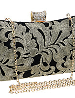 Women Bags All Seasons Polyester Evening Bag Embroidery for Event/Party Formal Gold Silver